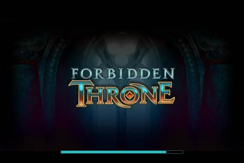 Forbidden Throne Review Slots Splash screen - game loading