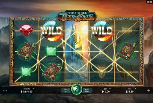 Forbidden Throne Review Slots Multiple winning paylines triggers a big win!