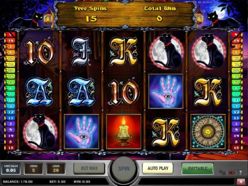 Fortune Teller Review Slots free spins game board