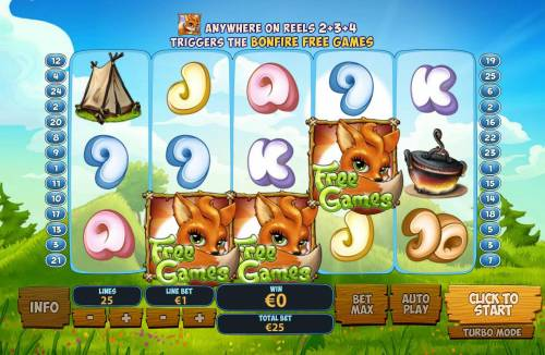 Foxy Fortunes Review Slots Three fox symbols triggers the free games feature.