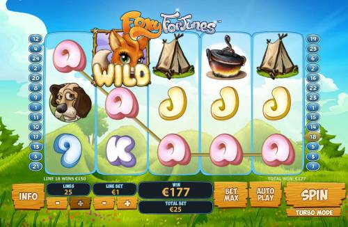 Foxy Fortunes Review Slots A five of a Kind pays out 179.00