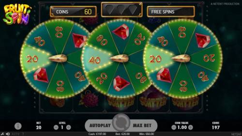 Fruit Spin Review Slots Lucky Wheel pays 80 coins