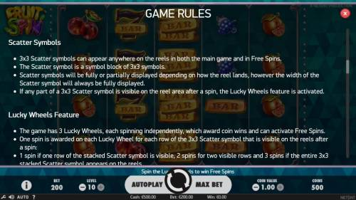 Fruit Spin Review Slots Scatter Symbol Rules