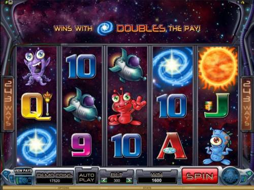 Galacticons Review Slots 1600 coin jackpot triggered by galaxy symbols doubling the win