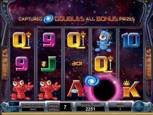 Galacticons Review Slots captured galaxy symbols double all bonus prizes