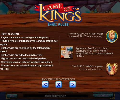 Game of Kings Review Slots General Game Rules