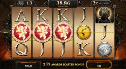 Game of Thrones - 15 Lines Review Slots Free Spins Game Board