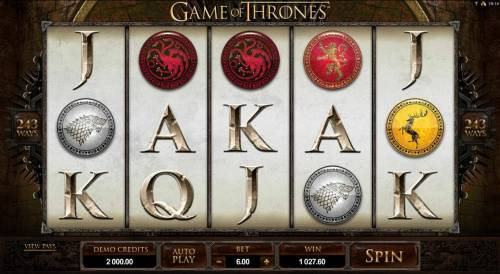 Game of Thrones - 243 Ways Review Slots Main game board featuring five reels and 243 ways to win