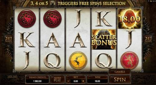 Game of Thrones - 243 Ways Review Slots example of a typical winning spin