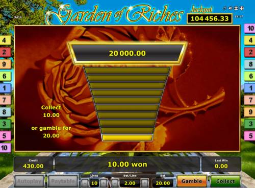 Garden of Riches Review Slots Gamble Feature Game Board