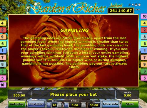 Garden of Riches Review Slots Gamble Feature Rules