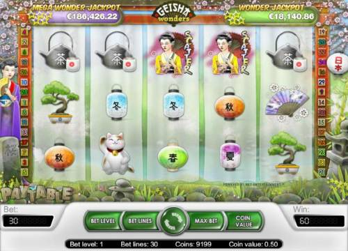 Geisha Wonders Review Slots two scatter symbols triggers a 2x your line bet payout