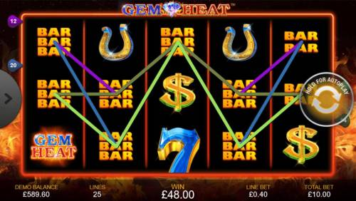 Gem Heat Review Slots Multiple winning paylines triggers a big win!