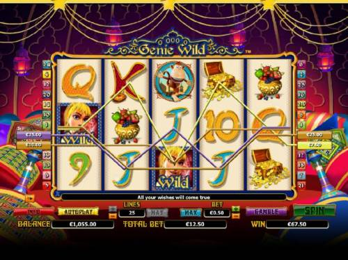 Genie Wild Review Slots multiple winning paylines triggers a 5x payout