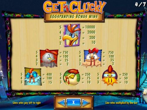 Get Clucky Review Slots High value slot game symbols paytable - Bonus Game Wins.