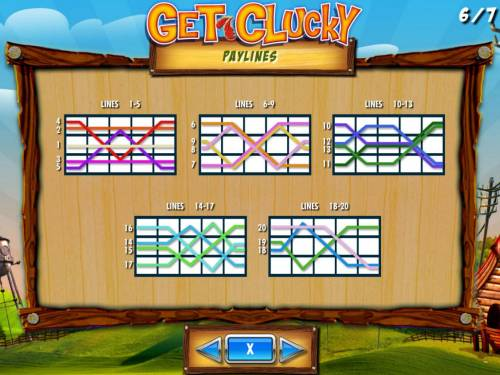 Get Clucky Review Slots Payline Diagrams 1-20