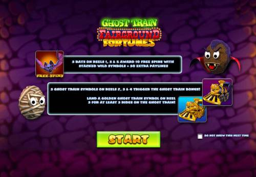 Ghost Train Fairground Fortunes Review Slots Splash screen - game loading