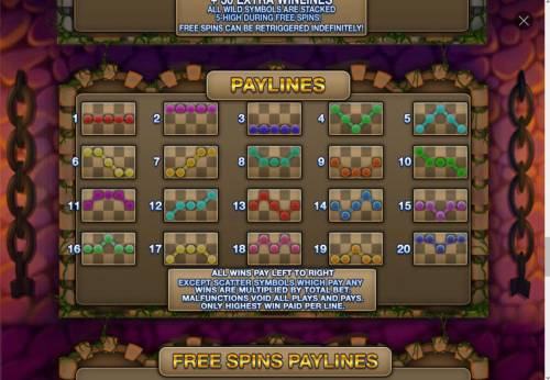 Ghost Train Fairground Fortunes Review Slots Payline Diagrams 1-20. All wins pay left to right, except scatter symbols which pay any.