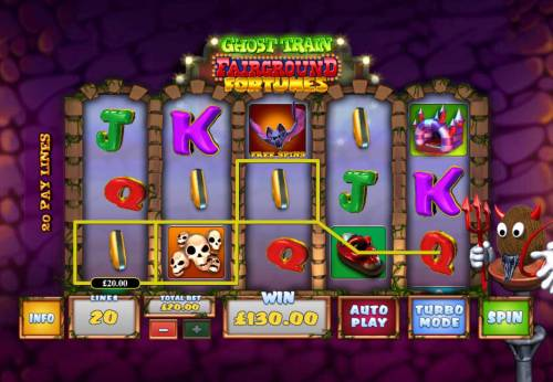 Ghost Train Fairground Fortunes Review Slots Multiple winning paylines triggers a 130.00 big win!