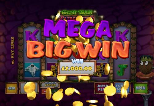 Ghost Train Fairground Fortunes Review Slots A 2,000.00 Mega Win awarded player for bonus game play.