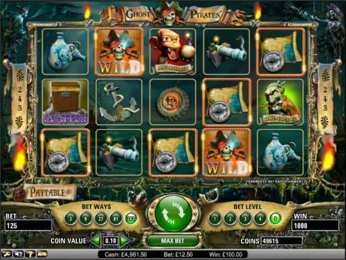 Ghost Pirates Review Slots Ghost Pirates slot game big win 1000 coin payout