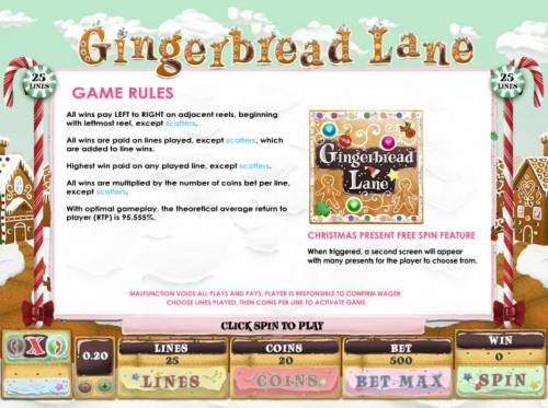 Gingerbread Lane review on Review Slots
