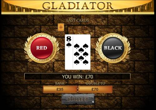 Gladiator Review Slots with the gamble feature you have a chance to double your winnings