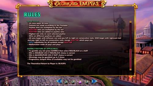 Glorious Empire review on Review Slots