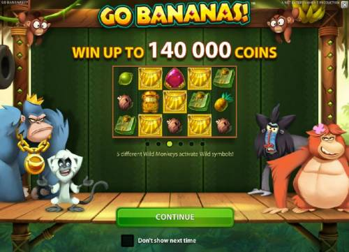 Go Bananas Review Slots Win up to 140,000 coins