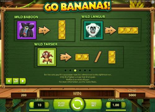 Go Bananas Review Slots Wild symbols rules continued