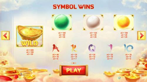 God of Wealth Review Slots Slot game symbols paytable.