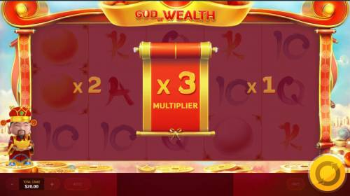 God of Wealth Review Slots An x3 multiplier.