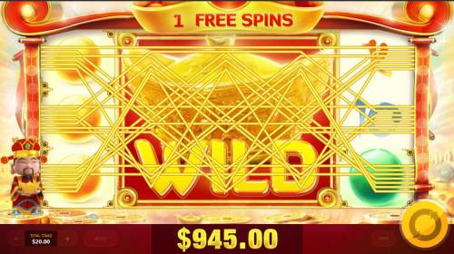 God of Wealth Review Slots Multiple winning paylines triggers a big win!