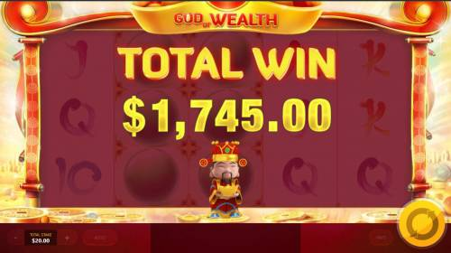 God of Wealth Review Slots Total Free Spins payout 1,745.00