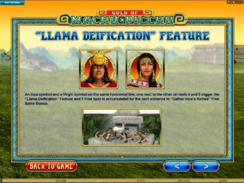 Gold Of Machu Picchu Review Slots Llama Deification feature rules