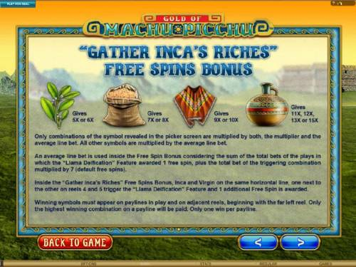 Gold Of Machu Picchu Review Slots Gather Inca's Riches Free Spins Bonus Rules