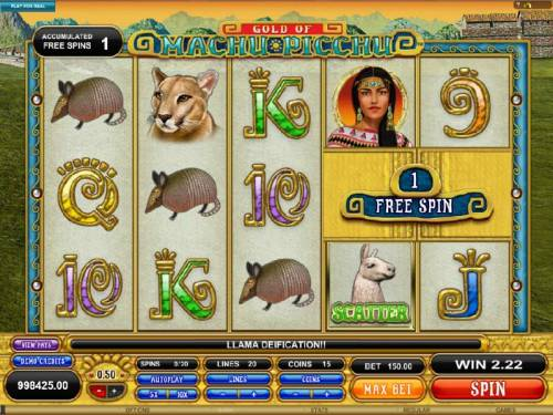 Gold Of Machu Picchu Review Slots 1 free spin added to the accumulated free spins