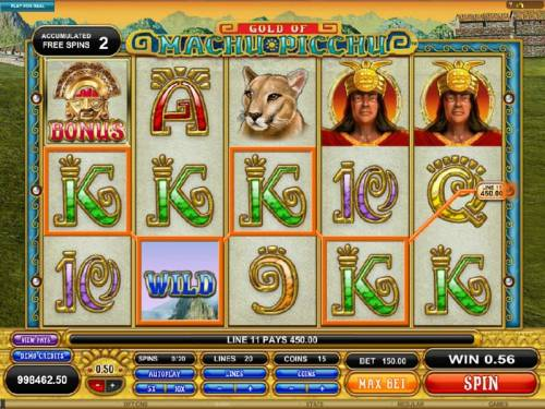 Gold Of Machu Picchu Review Slots four of a kind triggers a 450 coin jackpot