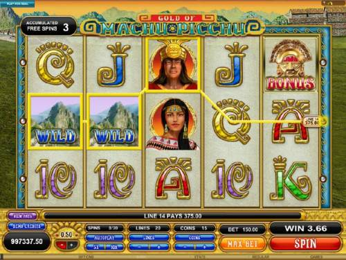 Gold Of Machu Picchu Review Slots another 375 coin jackpot