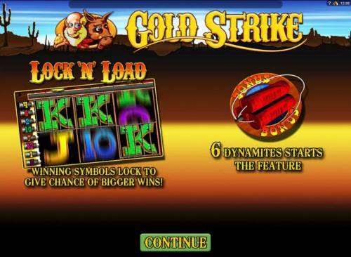 Gold Strike Review Slots Winning symbols lock to give chance of bigger wins!