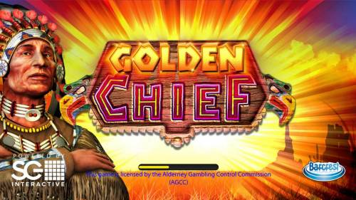 Golden Chief Review Slots Splash screen - game loading - American Indian Theme