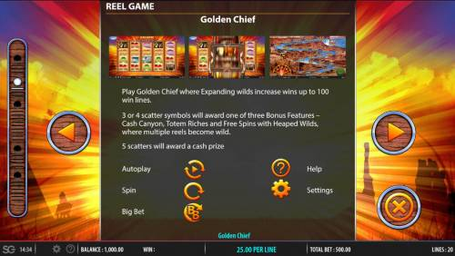 Golden Chief Review Slots Expanding Wild Rules