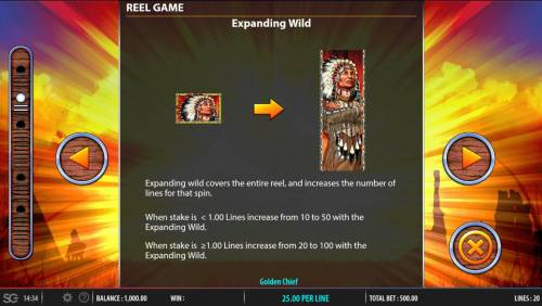Golden Chief Review Slots Expanding Wilds Rules