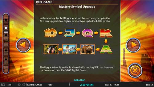 Golden Chief Review Slots Mytery Symbol Upgrade