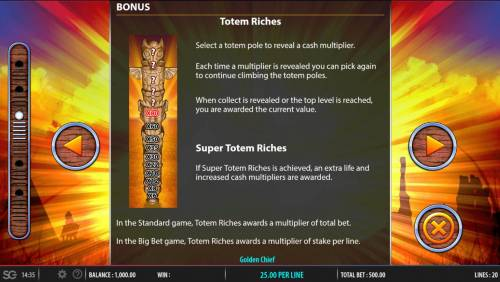 Golden Chief Review Slots Totem Riches Rules