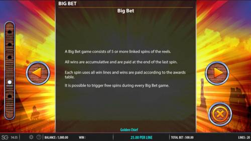 Golden Chief Review Slots Big Bet Rules