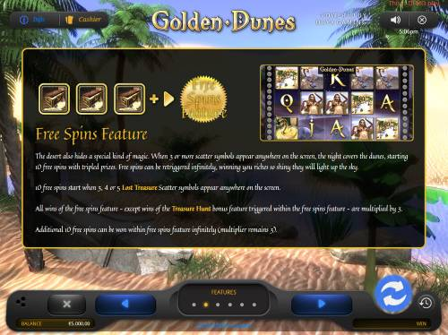 Golden Dunes Review Slots Free Spins Feature Rules