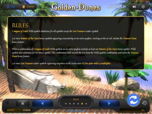 Golden Dunes Review Slots General Game Rules