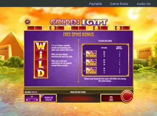 Golden Egypt Review Slots Free Spins Bonus Game Rules