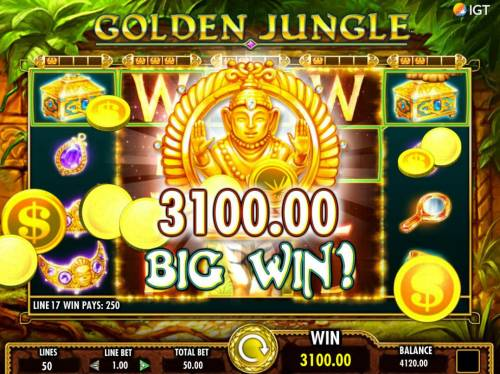 Golden Jungle Review Slots A 3100.00 Big Win Awarded.